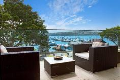 4/585 New South Head Road Rose Bay NSW 2029 Property Description Harbourfront Glamour With Panoramic Views, House-Like Proportions & Bespoke Inte A fresh vision of urban glamour with a chic New York inspired design aesthetic, this custom recreated harbourfront apartment is set against a mesmerising harbour backdrop with panoramic northerly views over Rose Bay Marina. With nods to Hollywood and its Art Deco heritage, it has been meticulously recreated showcasing exceptional detail throughout from the state-of-the-art kitchen and luxurious marble bathrooms to the bespoke joinery and timber-panelled walls. Facing north and opening through double glazed glass to a view-swept terrace, it features a semi-like layout with more than 130sqm of in/outdoor living space. Mid floor setting in a revamped Art Deco block of 8 Exclusive harbourside setting overlooking Rose Bay Marina Fluid open living and dining, Kelly Wearstler wallpaper Custom entertainer's island kitchen, fully integrated Wraparound terrace with never-to-be-built-out views 3 double beds with built-ins, luxurious master suite 2 luxurious baths featuring Calcutta & Carrara marble finishes Internal laundry, integrated sound, ducted reverse air Walnut polished timber floors, terrazzo foyer, lift access