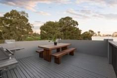 36 Lennox Street Richmond VIC 3121 $790,000 - $860,000 City skyline views that sweep uninterrupted from the spectacular party-size rooftop terrace of this three bedroom, 2.5 bathroom residence are set to take your breath away. What an amazing city-edge opportunity, and it also includes remote-control garage to make your life even easier. Spanning a corner position in a vibrant location, this spacious townhouse is just a short stroll to Victoria Street restaurants, Bridge Road boutiques, parks, train station and Melbourne's Sports & Entertainment Precinct. The secluded, streamlined layout of this immaculate home is simply perfect for exciting low-maintenance living while ideal as a rewarding, easy-care investment. The large main bedroom includes stylish ensuite with all including built-in robes. Open-plan living and dining is superb and complemented by a fully-appointed kitchen and downstairs powder room. There's a smart main bathroom, separate laundry, gas space heating, LED lighting, security entrance porch plus excellent storage. This is an absolutely rare opening for a totally remarkable lifestyle.