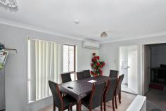 8 Ryecroft Place Richlands QLD 4077 $399,500 GREAT HANDY LOCATION This home is set in a private cul-de-sac away from the traffic but still only 5 minutes to get to most things you will need like schools, shops & rail to Brisbane. Selling for a little over what townhouses are selling for in the area and no body corporate fees and a yard for the kids or dog to run around in, its well worth the inspection. * 3 Bedrooms * Ensuite to master * built-in robes to all rooms * Kitchen has stainless steel appliances * Semi separate lounge and dining room * Air-conditioning to dining * Security screens throughout * Single lock-up carport * Fully fenced large flat yard * Side access with a garden shed The home has 3 built-in bedrooms, with the main bedroom having the added convenience of an ensuite and that all important second toilet. The spacious lounge has carpet and is separate from the dining and kitchen by a nib wall, both have vinyl floor-coverings, the kitchen area has access to the back yard via a glass sliding door. The dining area has a split system air-conditioner that services the lounge area too. The rear yard is fully fenced ad could be developed more by adding a she, pool as the side access makes it easy to get your caravan or trailer in. Great for the first home buyers or with tenants already in place on a periodic lease this would be an ideal purchase for an investor. To book an inspection for this property please call Neil Coupland on 0411 747 464. Disclaimer: We have in preparing this information used our best endeavors to ensure that the information contained herein is true and accurate, but accept no responsibility and disclaim all liability in respect of any errors, omissions, inaccuracies or misstatements that may occur. Prospective purchasers should make their own enquiries to verify the information contained herein. KEY FEATURES: Air Conditioning Built in Robes Ensuite Hot Water Electric Split System (Heating) Split System (Air Con)...