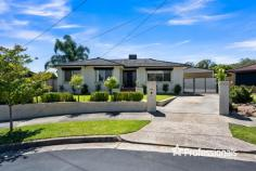 9 Holmes Court Wodonga VIC 3690 $397,500 •  Ducted Evaporative Cooling  •  Split System  •  Ensuite  •  Kitchen  •  Separate Laundry  •  Study  •  Walk In Pantry  •  Built In Robes  •  Floorboards  •  Dishwasher  •  Outdoor Entertaining Area  •  Shed  •  Fully Fenced  •  Decking  •  Gas Hot Water Shedding & Space ! Perfectly Positioned on a large 869m2 allotment within 2.5km of Wodonga's C.B.D this feature packed family home is sure to tick all the boxes. Offering lovely street appeal, you will be impressed from the moment you arrive, with this fantastic home consisting of three large bedrooms, all with BIR & ceiling fans plus an additional study area, whilst the master bedroom boasts a huge walk-in robe, large ensuite with double vanity and spa bath & direct access to outside via sliding doors. The central positioned family bathroom is also host to a double vanity and oversized shower and services the minor bedrooms. Also on offer is a large family living zone and stunning 2-pak kitchen with s-steel appliances, gas cooktop, dishwasher and plenty of cupboard space, including a Walk In Pantry, the home also boasts original floorboards throughout! Outside the features continue with a huge 7.5m x5.5m pitched roof deck area perfect for entertaining friends and family, there is also lovely established gardens, plenty of yard space and a 6.7m x 6.1m Colorbond shed with shelving, potbelly and additional double carport for car accommodation. With everything on offer and not a thing to do except unpack & enjoy, this home is sure to move quickly! Call to arrange your inspection today! Property ID: 1154307